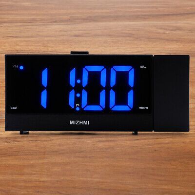 Large Display 12 24 Hour FM Projection Alarm Clock with Dimmer Sleep Timer