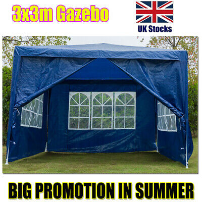 3x3M Outdoor PE Garden Gazebo Canopy Party Wedding Events Markets Car Shelters