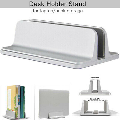 Aluminum Alloy Vertical Laptop Stand Adjustable Desktop Holder For Notebook New