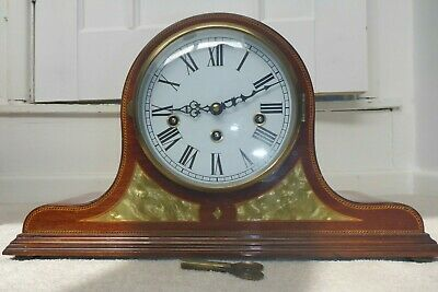 Napoleon hat design Mantel Clock with key
