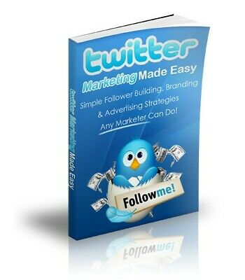 Twitter Marketing Made Easy eBook With Master Resell Rights MRR | EMAIL DELIVERY
