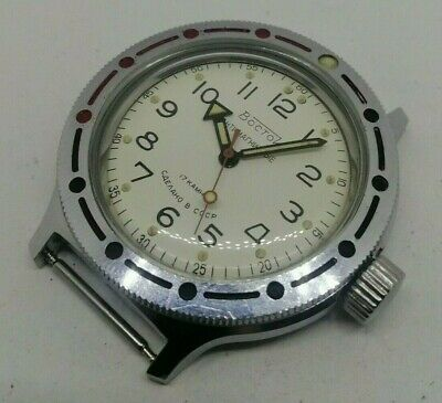 ☭ Watch Vostok Amfibian Diver USSR Vintage Soviet Antimagnetic 2409 *SERVICED*