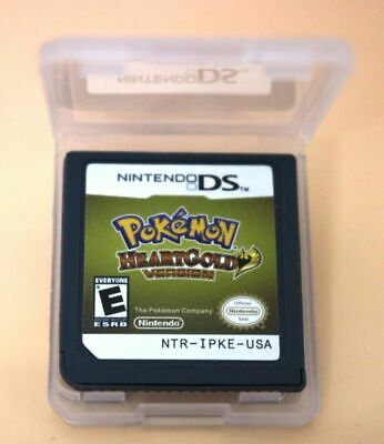 Pokemon HeartGold Game Card  US Version For 3DS NDSI NDS NDSL Lite2