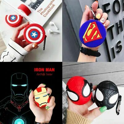 f904f1381 Ironman Spiderman Earphone Cover for Apple Airpods Charging Case Holder Bag  Skin