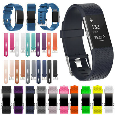 Silicone Rubber Bands Replacement Strap Wristband Bracelet FOR Fitbit CHARGE 2