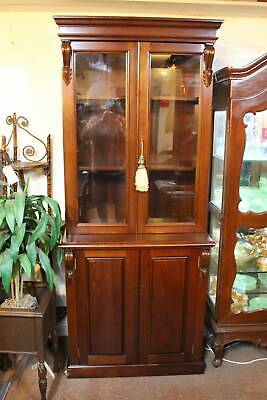 A Lovely Mahogany Bookcase with Glazed Top 204cm High - Display Cabinet