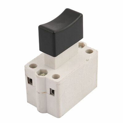 250V 10A Momentary Square Black Push Self-return Switch Button SPDT NO