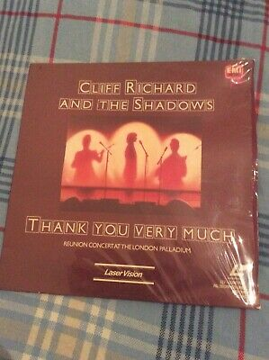 Cliff Richard & The Shadows Thank You Very Much Live London Laserdisc Laser Disc