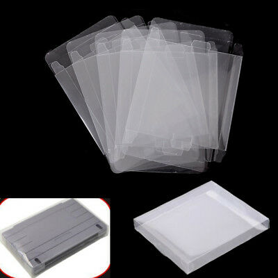 5pcs Game Plastic Cartridge Protector Cover Box Case For Nintendo SNES/Super  3c