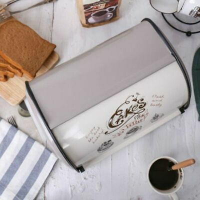 French Vintage Bread Box Storage Bins Keeper Food Containers Kitchen Home Decor