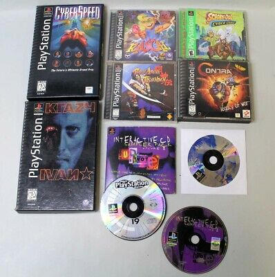 Lot of 8 Sony Playstation Games Contra Cyberspeed Tekken 2 Namco Museum 3