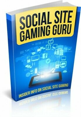 Social Site Gaming Guru! eBook With Master Resell Rights MRR | EMAIL DELIVERY
