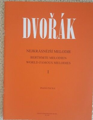 Dvorak WORLD FAMOUS MELODIES I piano solos, published in Prague