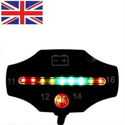 Car Motorcycle LED Battery Voltage Meter Indicator 12V Auto ATV Applications X@