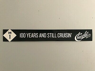 2011 Woodward Dream Cruise Chevrolet 100th Anniversary Windshield Cling Banner