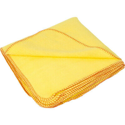 Pack 1x 5x 15x 20x 100% Cotton Dusters Yellow Cleaning Dusting Cloth Home Polish