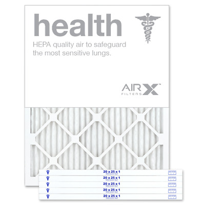AIRx Filters Health 20x25x1 Air Filter Replacement Pleated MERV 13, 6-Pk