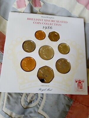 UK Brilliant Uncirculated Coin Collection 1986