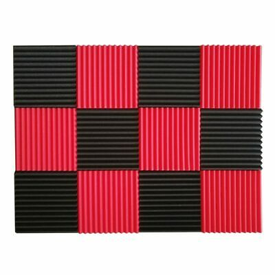 3X(12 Pcs Acoustic Panels Soundproofing Foam Acoustic Tiles Studio Foam Soun V04