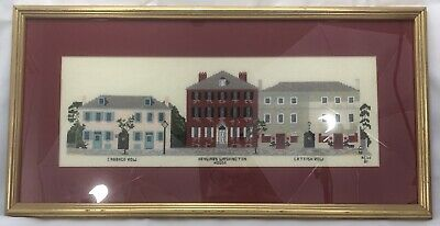 Charleston Cabbage Catfish Row Handmade Completed Framed Cross Stitch SC Porgy