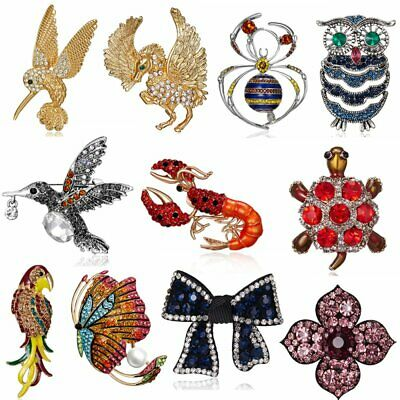 Lovely Crystal Bird Butterfly Animal Brooch Pin Badge Jewelry Party Women Ladies