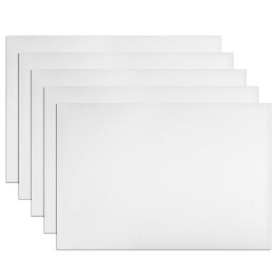 "5Pcs Dry Erase Flexible Magnetic Strip 11.7"" x 8"" Labels Stickers Writable White"