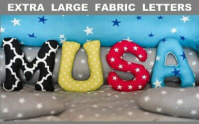 EXTRA Large Fabric Letters Nursery Name Banner Gift Ideas  Baby Shower