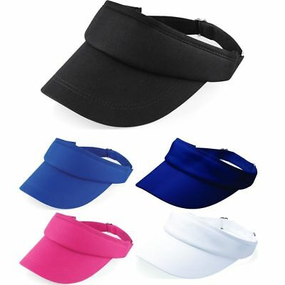 Beechfield Sports Visor Adjustable Cap Unisex Sports Sun Summer Outdoor Hat