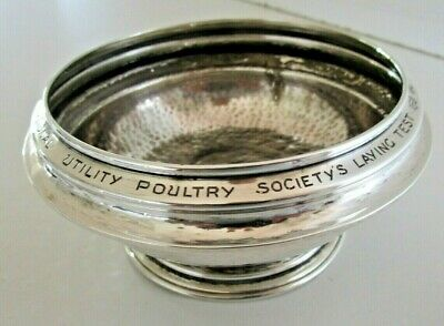 Planished Silver Bowl, Lamaison Trophy, Poultry, Chester 1929