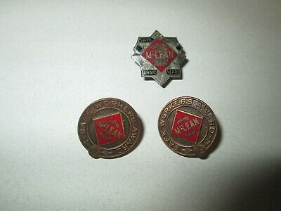 Vintage Lot McLean Trucking Co Screw Back Pin Safe Driver Award Pins Yrs 2 17 18
