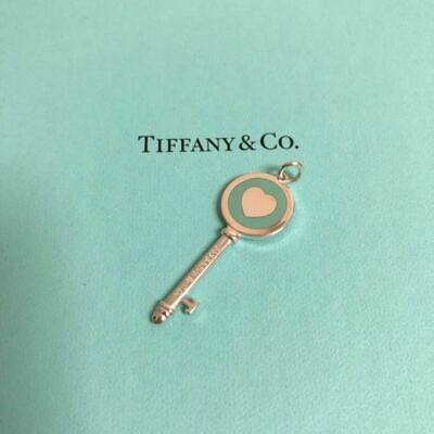 Tiffany & Co Sterling Silver Blue Medium Heart Key Without Chain 925