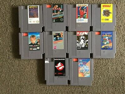 Lot of 10 Nintendo Nes Video Games.(Donkey Kong, Metroid, Lolo, Werewolf,&More!)