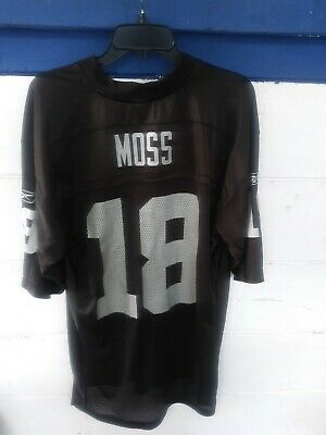finest selection cb337 aa787 RANDY MOSS 18 Oakland Raiders Authentic Jersey NFL Equipment ...