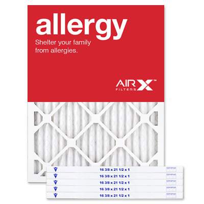 AIRx Filters Allergy 16.37x21.5x1 Air Filter Replacement Pleated MERV 11, 6-Pk