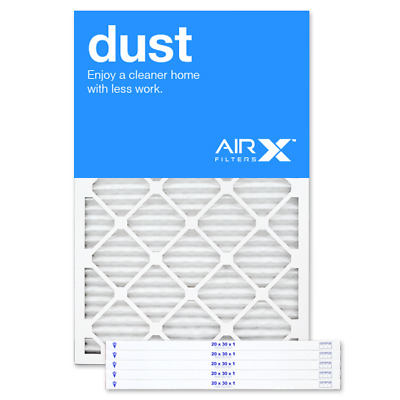 AIRx Filters Dust 20x30x1 Air Filter Replacement Pleated MERV 8, 6-Pk