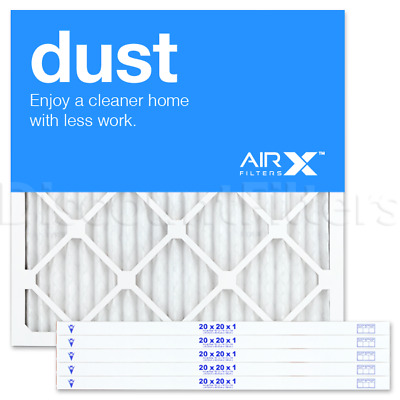 AIRx Filters Dust 22x20x1 Air Filter Replacement Pleated MERV 8, 6-Pk