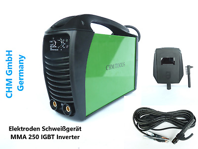 Chm Gmbh Welding Power Supply Mma 250 E-Hand Igbt Inverter Electrodes
