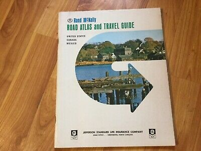 1966 Rand Mcnally Road Atlas & Travel Guide
