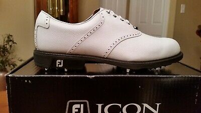 2014 Footjoy FJ ICON Traditional Mens Golf Shoes 52005 NEW Wh 10M $349 Ret