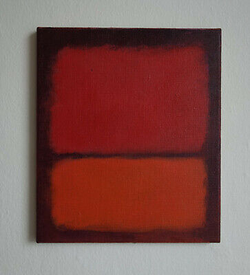 Fine Unique painting, Abstract expressionism, signed, Mark Rothko with COA docs.