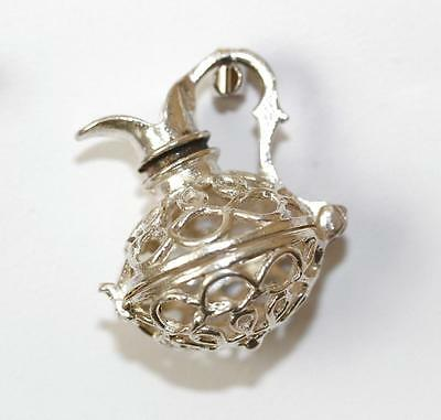 Chim Opening Water Pitcher Sterling Silver Vintage Bracelet Charm 4.6g