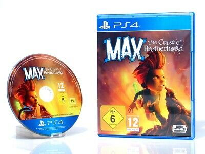 MAX - THE CURSE OF THE BROTHERHOOD - dt. Version -  °Playstation 4 Spiel°