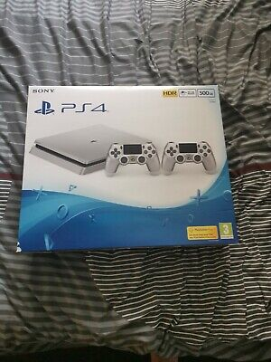 SONY PlayStation 4 Slim 500GB Console with 2 Controllers - Silver