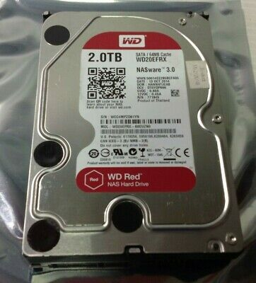 "Western Digital Red 2TB HDD SATA 64MB 3.5"" WD20EFRX Tested w/ Free Shipping"