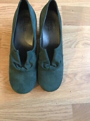 Hotter Court Shoes Size 6 Teal Colour, Worn Once Only