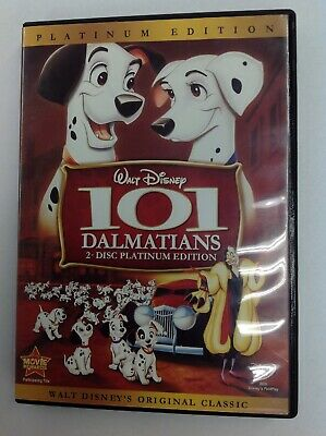 101 DALMATIANS (DVD,2008,2-Disc Set, Platinum Edition) GENTLY USED~PLAYS GREAT!