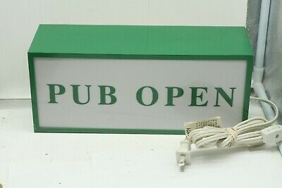 Vintage Advertising Lighted Sign Bar Light Pub Open Pub Closed Double Sided