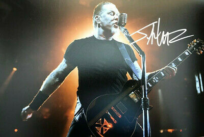 MATALLICA (James Hetfield) SIGNED PHOTO 12X8 WITH COA