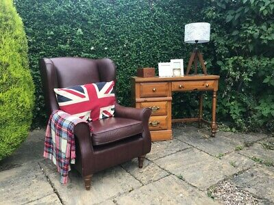 M&S Highland Wingback Armchair in Dark Brown Leather RRP £995 Marks & Spencer