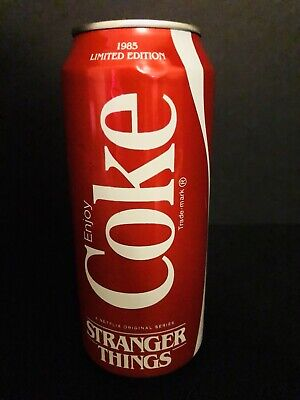 2019 16oz NEW COKE CAN * 1985 STRANGER THINGS 3 * EMPTY  LIMITED LE  FREE SHIP